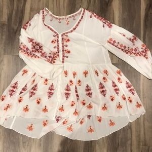 Free people white patterned tunic